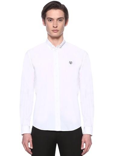 Kenzo Uzun Kollu Gömlek Beyaz